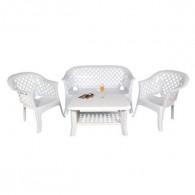 Salon de Jardin LARIANA Blanc