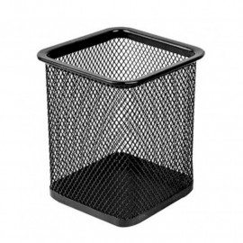 POT A STYLOS DELI RECTANGULAIRE METAL NOIR E9174
