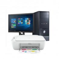 "PC de Bureau Discovery Murelin + Ecran Dell 20"" + Imprimante tout-en-un HP"