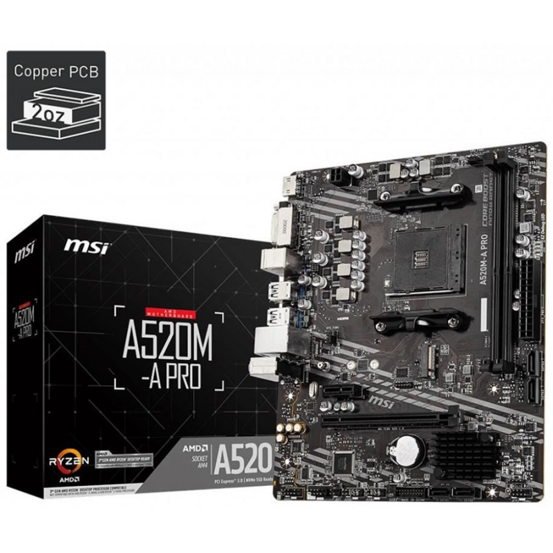 CARTE MERE MSI A520M-A PRO SOCKET AMD AM4 (7C96-001R)