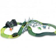 Voiture De Rail Dinosaure De Vitesse 213 Pièces