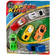 Coffret 6 Mini Voitures De Course Speed Kig