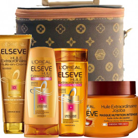 Pack Elsève : Shampooing + Après-Shampooing + Oil Replacement + Masque
