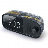 Radio-réveil MUSE Double Alarme M-168NY